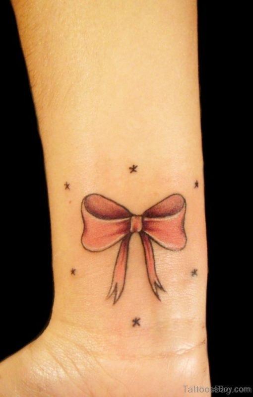 Bow Tattoo On Wrist