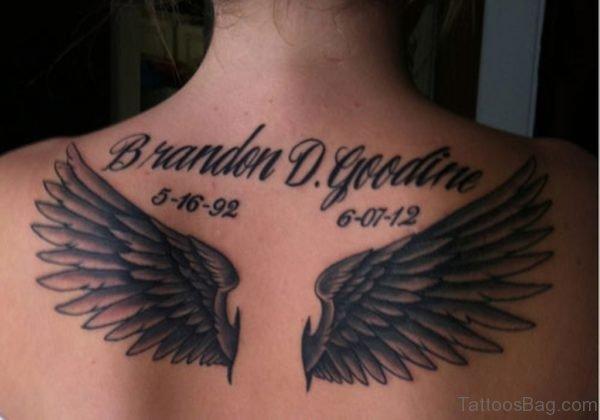 Brandon D.Goodine Memorial Angel Tattoo