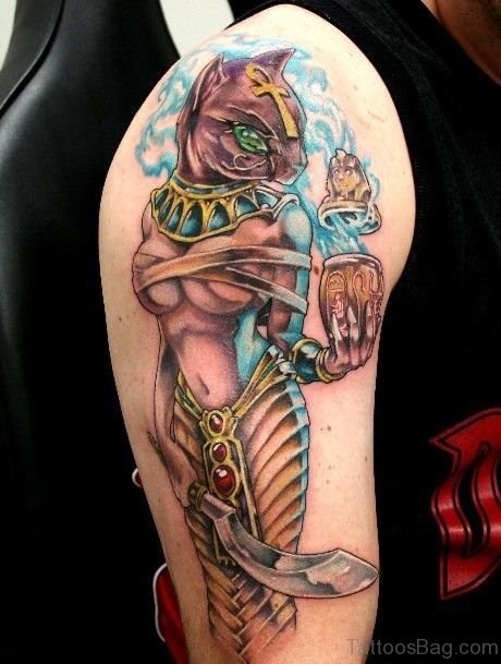 Colorful l Egyptian Tattoo