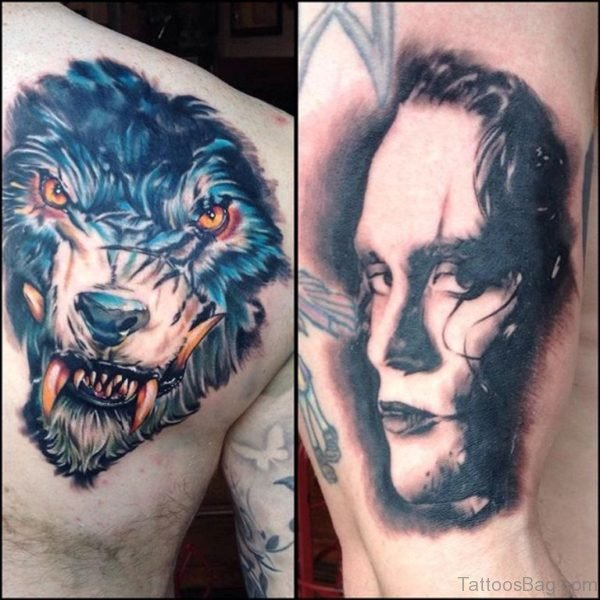 Brilliant  Horror Tattoo Design