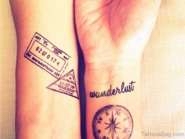 Brilliant Compass Tattoo