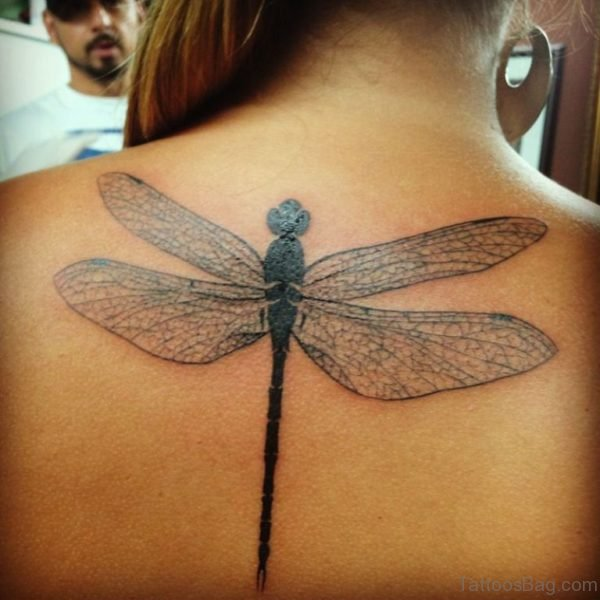 Brilliant Dragonfly Tattoo On Back