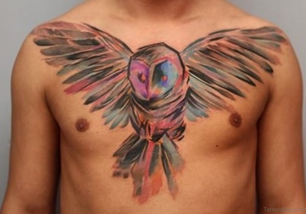 50 Attractive Owl Tattoos Designs On Chest