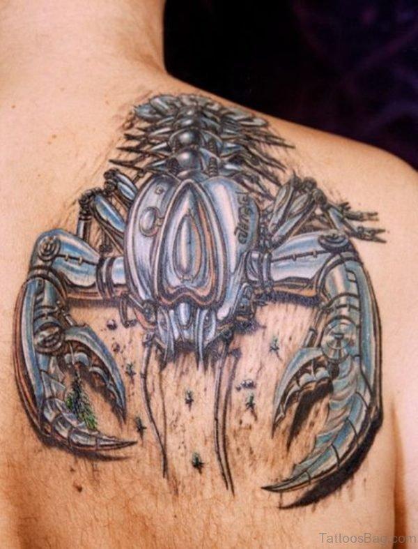 Brilliant Scorpion Tattoo On Back