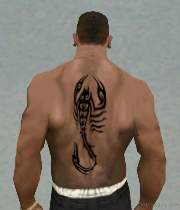 Brilliant Scorpion Tattoo On Man Back