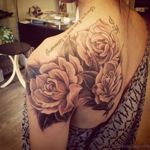 Brown Roses Tattoo