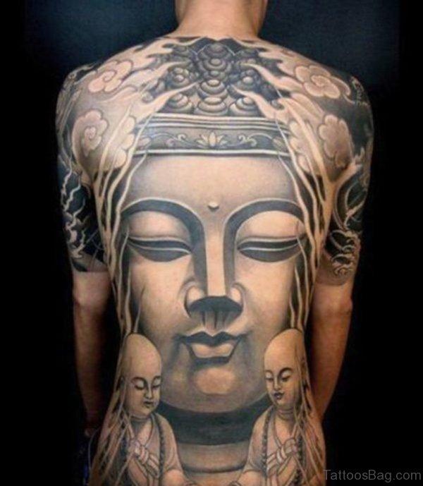 Buddha Full Back Tattoo