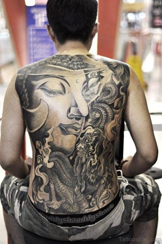 Buddha Tattoo On Full Back