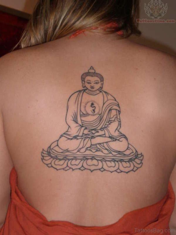 Buddha Tattoo On Upper Back