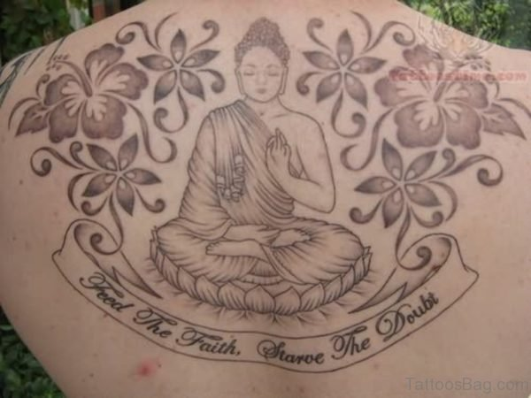 Buddhist Religious Tattoo On Back