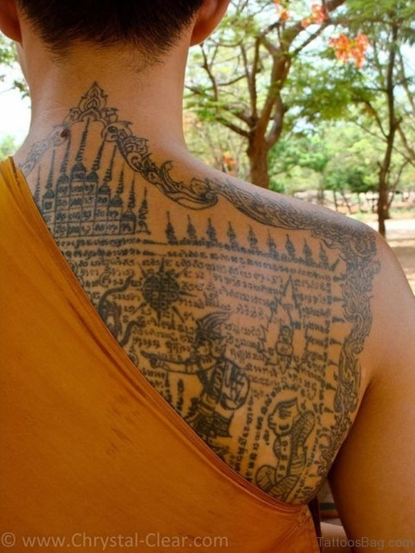 Colored Buddhist Tattoo