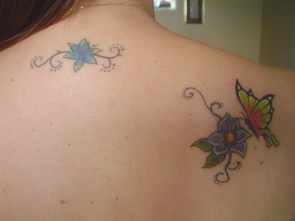 60 amazing butterfly tattoos for Flower and butterfly tattoo