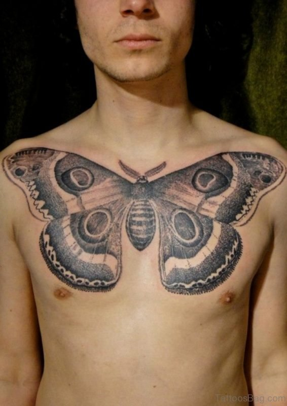 Butterfly Chest Tattoo For Men