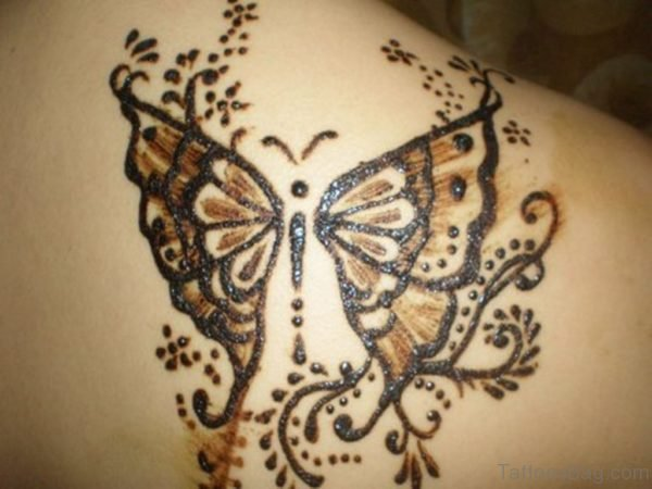Butterfly Henna Design Tattoo