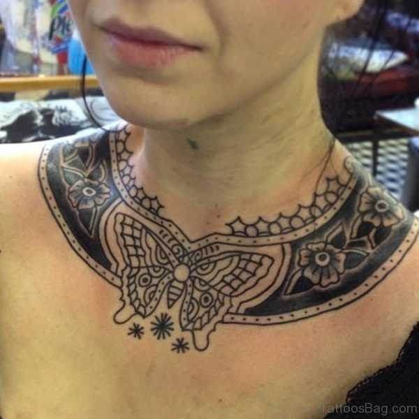Butterfly Necklace Tattoo