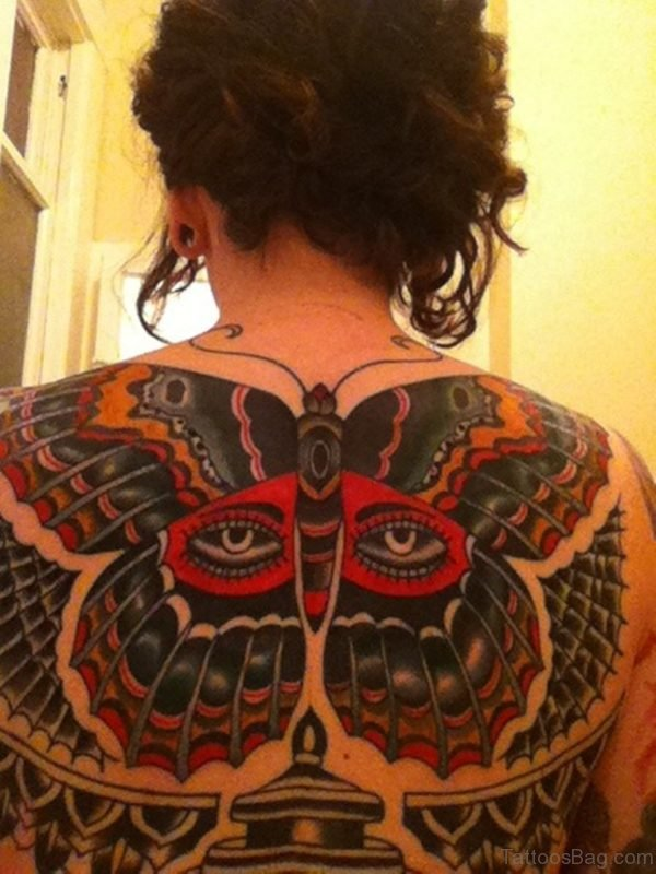 Butterfly Tattoo On Full Back