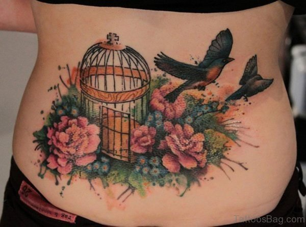 Cage And Bird Tattoo