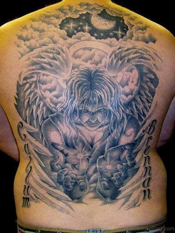 Callum Brennan Memorial Angel Tattoo