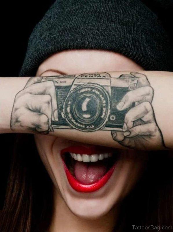 Camera Tattoo On Wrist