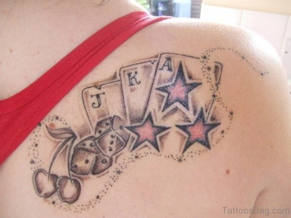 Cards And Stars Tattoo