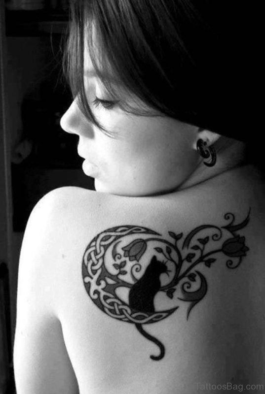 Cat Back Tattoo