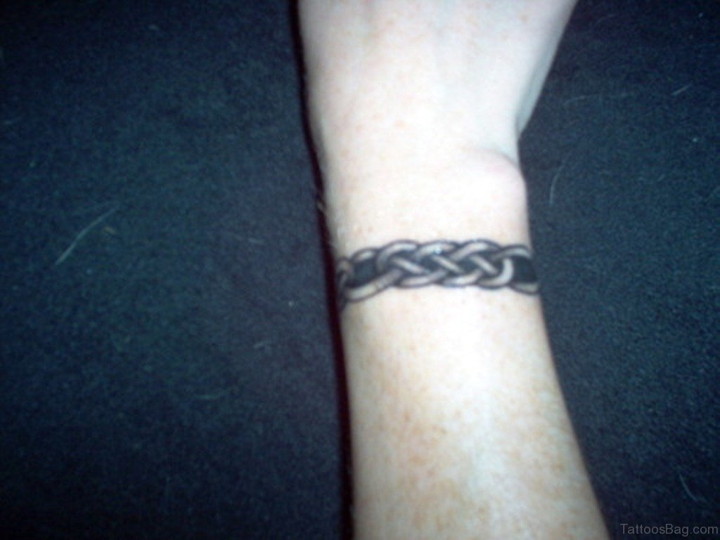 46 amusing arm band tattoos on wrist for Celtic ring tattoos
