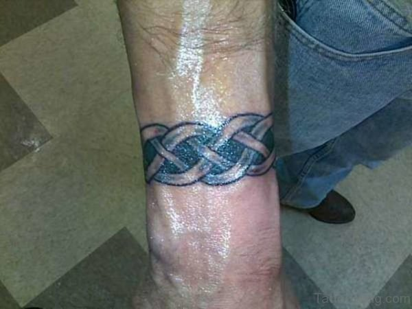 Celtic Band Tattoo On Wrist