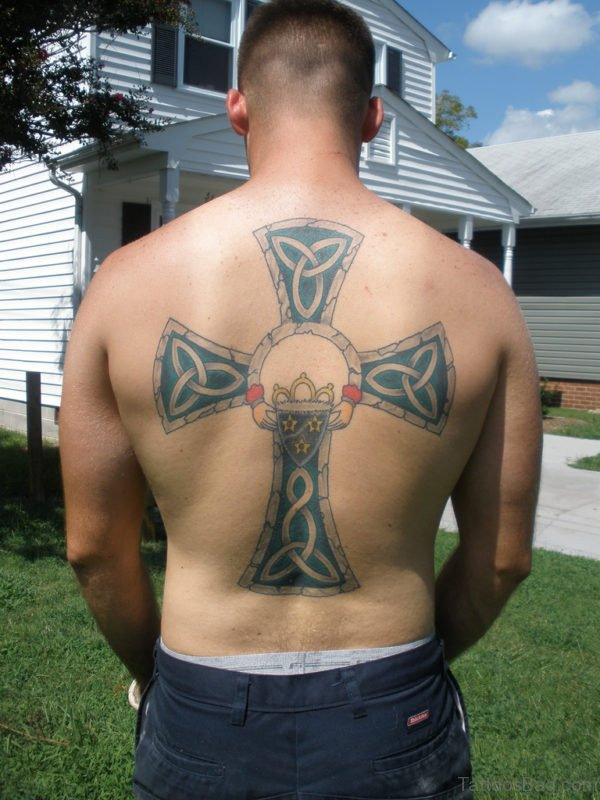 Celtic Cross Tattoo For Men On Back