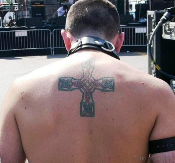 Celtic Cross Tattoo On Back