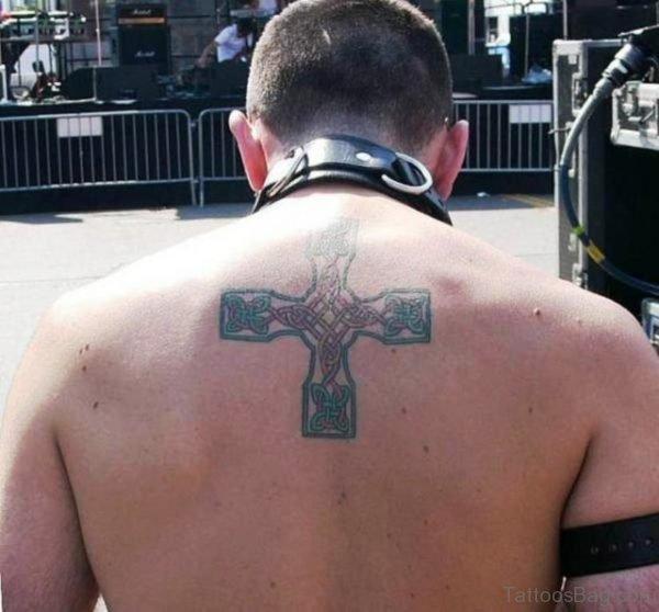 Celtic Cross Tattoo On Back