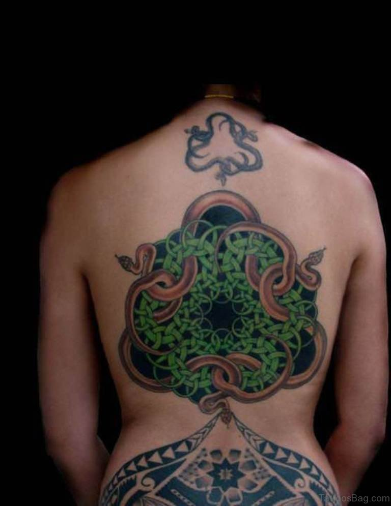 Celtic Knots And Snakes Tattoo