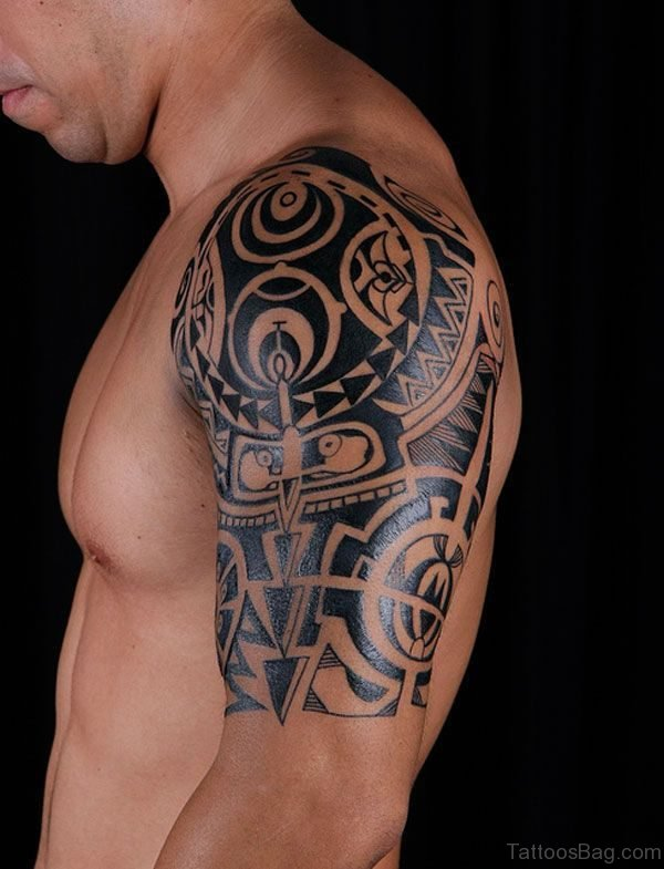Celtic Shoulder Tattoo For Man