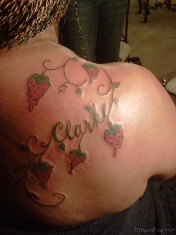Cherry And Name Tattoo