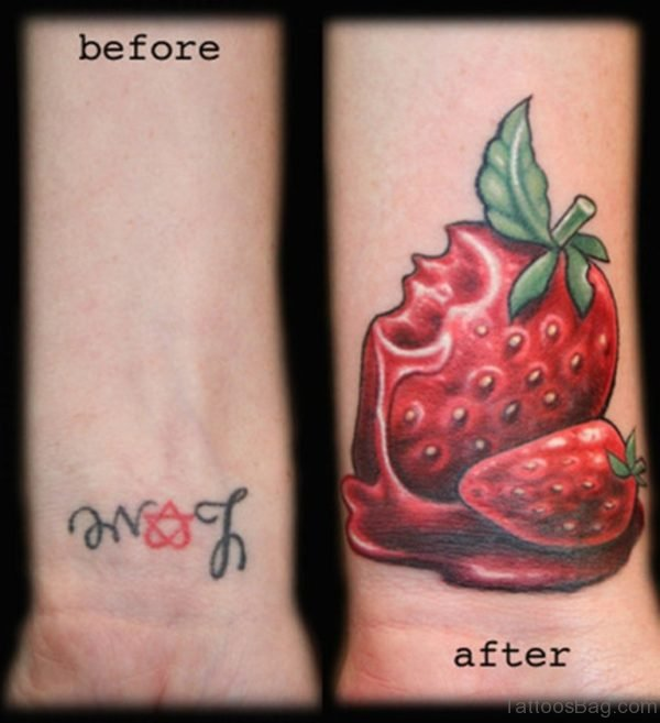 Cherry Tattoo On Wrist