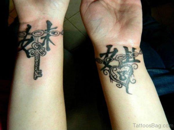 Chinese Symbols Tattoo On Wrist
