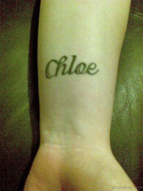 Chloe Name Tattoo