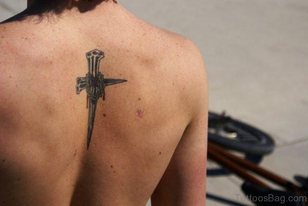 Christian Nail Cross Tattoo