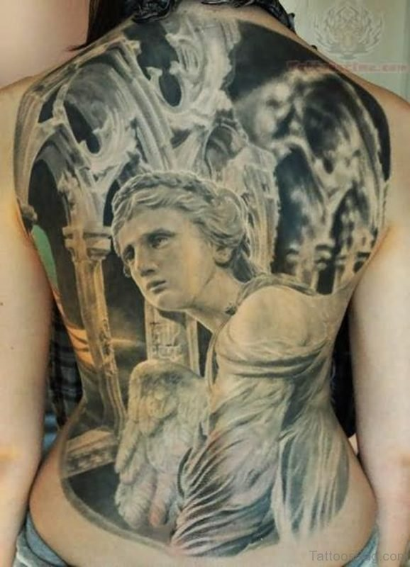 Christian Religious Tattoo On Back
