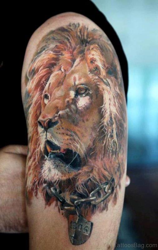Clam Lion Tattoo Design