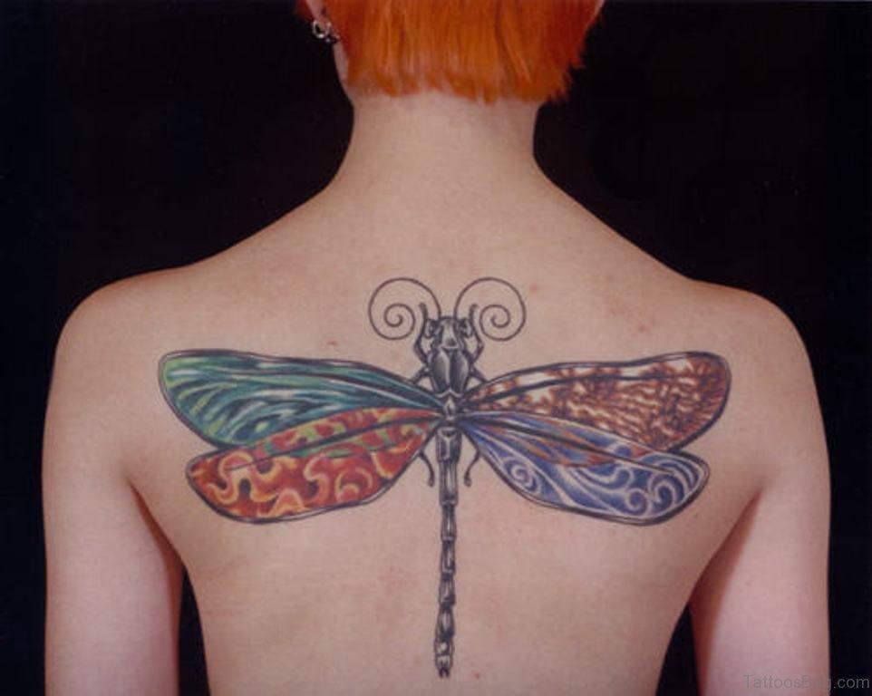 49 classic dragonfly tattoos for back. Black Bedroom Furniture Sets. Home Design Ideas