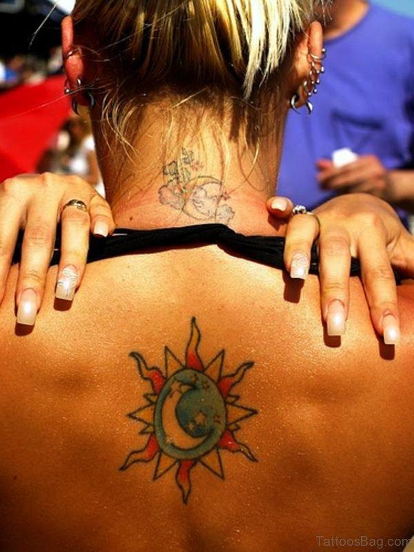 Classic Moon Tattoo