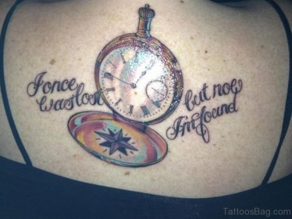 Clock And Word Tattoo