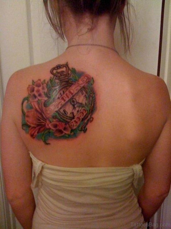 Clock Tattoo  For Girl