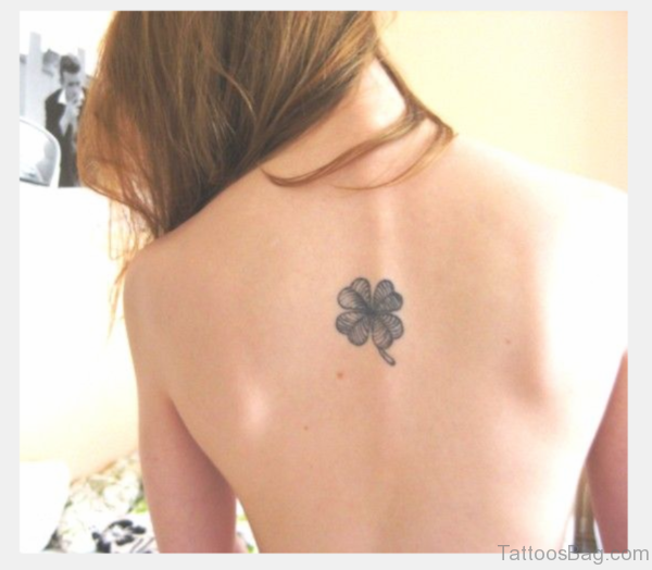 Clover Tattoo On Back