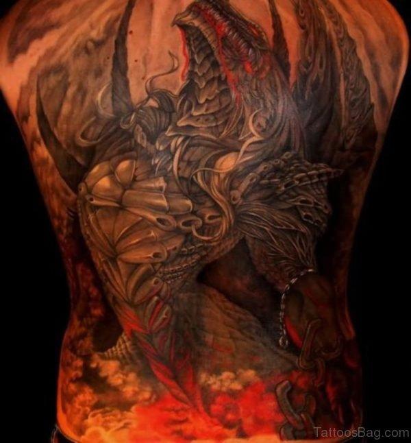 Color Dragon Tattoo