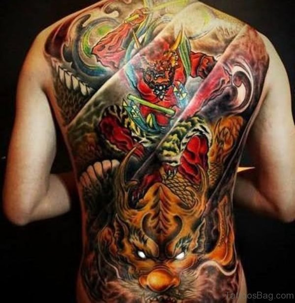 Color Ink Dragon Tattoo