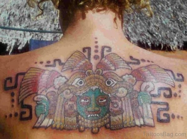 Colored Aztec Tattoo