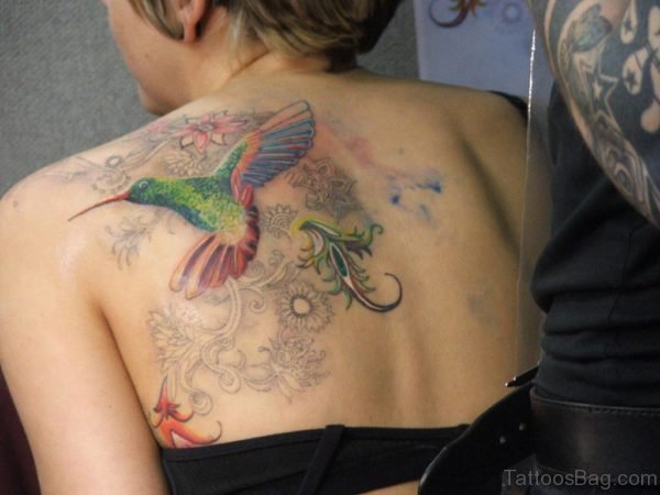 Colored Bird Tattoo