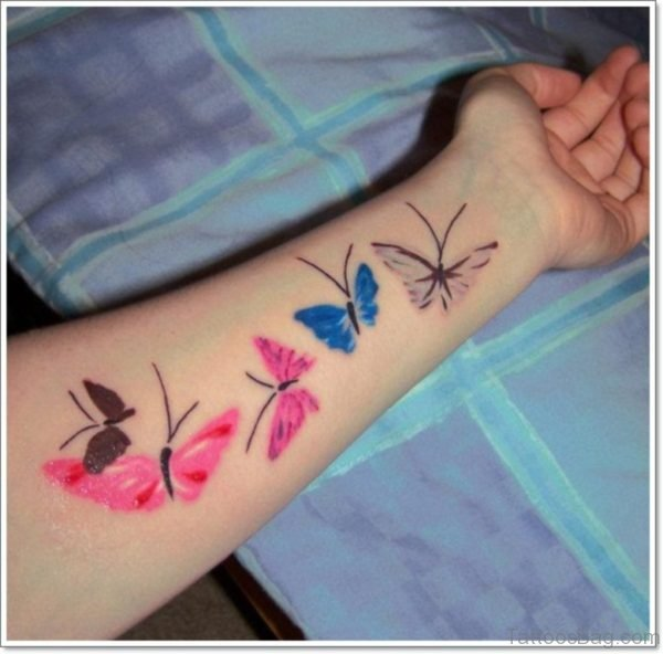 Colored Butterfly Tattoo