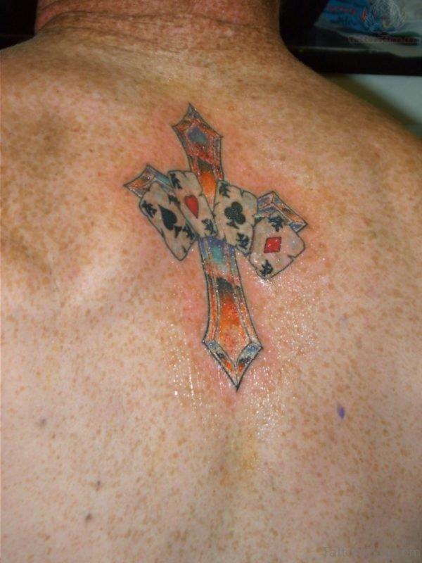 Colored Cross Tattoo